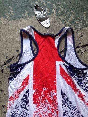 sukienka letnia wzor flaga brytyjska rozmiar S/M