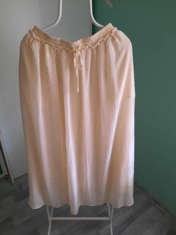 Sukienka Długa h&m rozmiar 40 beżowa Kremowa