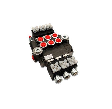 Rozdzielacz hydrauliczny 3 SEK 80L ELEKTRYCZNY 12V
