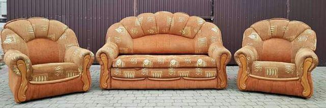 Zestaw wypoczynkowy, kanapa 2 fotele, wypoczynek do salonu
