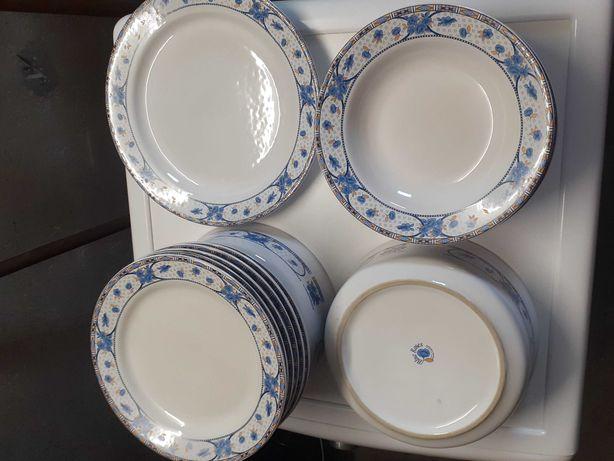 Zestaw obiadowy blue roses na 6 osób