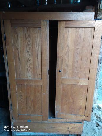Szafa zabytkowa cała drewniana do renowacji
