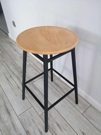 Krzesło Hoker barowy, stołek taboret metalowy