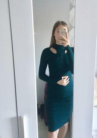 Sukienka obcisła butelkowa zieleń River Island