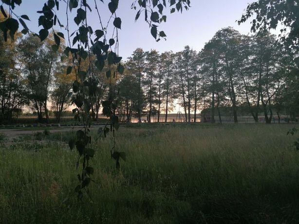 Camping, Kamper, przyczepa campingowa,  jezioro, plaża Osłonin