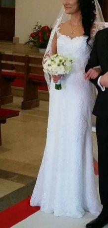 Suknia ślubna rozm.M na 170-175 cm wzrostu