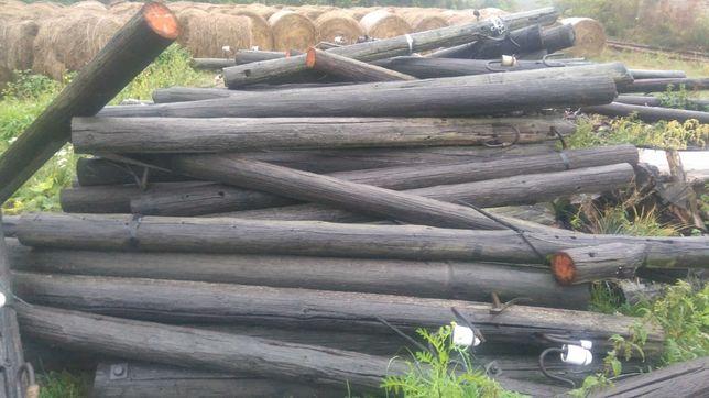 Słup drewniany telekomunikacyjny