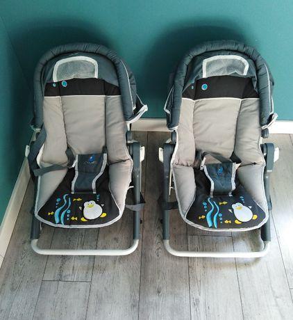 Leżaczek bujak dla niemowląt regulowany Caretero - 2 szt.