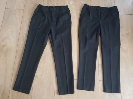 Czarne materiałowe spodnie  dla chłopca  Reserved 152cm