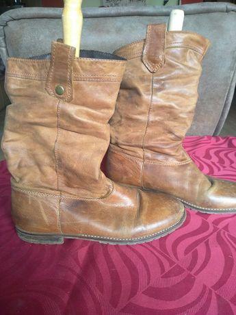 Brązowe skórzane buty r.40