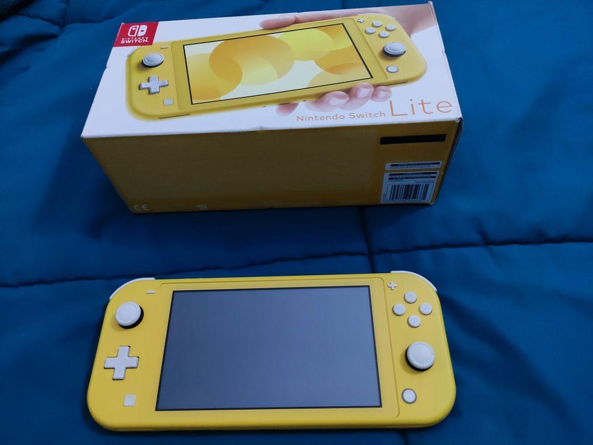 Nintendo switch lite amarela