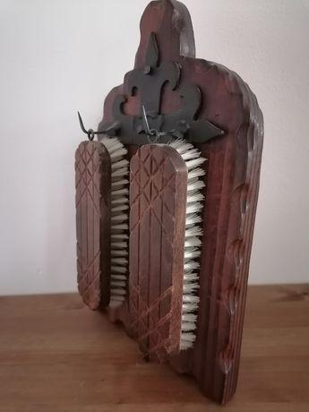 Zestaw szczotek do butów drewniana kute