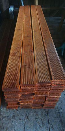 Deska tarasowa malowana modrzew legary
