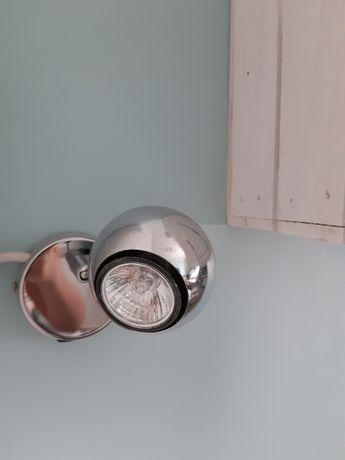 Lampa, kinkiet srebrna kula
