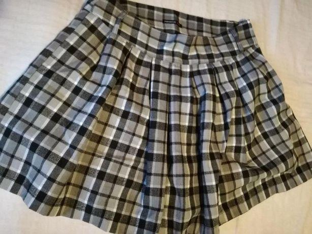 Spódnica w kratę XL