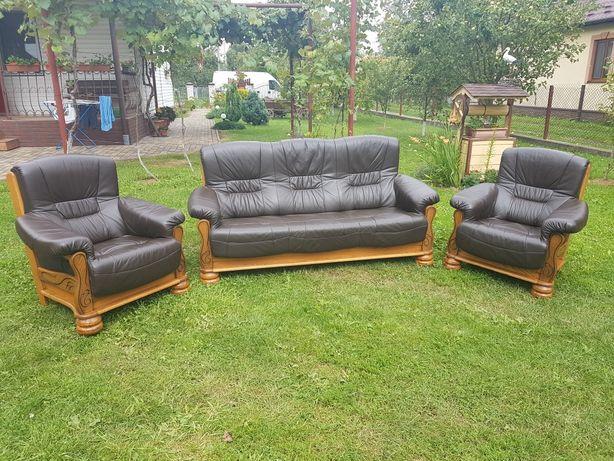 Шкіряний набір диванів -Гарнітур.