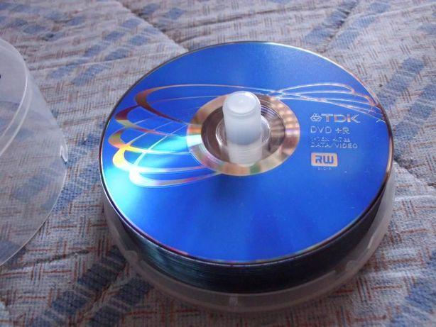 8 DVDs TDK virgens + 7 CDs Verbatim virgens