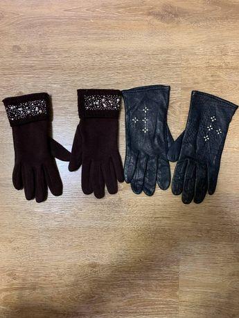 SALE!!! Перчатки женские кожа, текстиль!!!