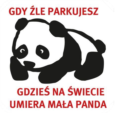 Karne naklejki karna PANDA kara za złe parkowanie x 60 szt