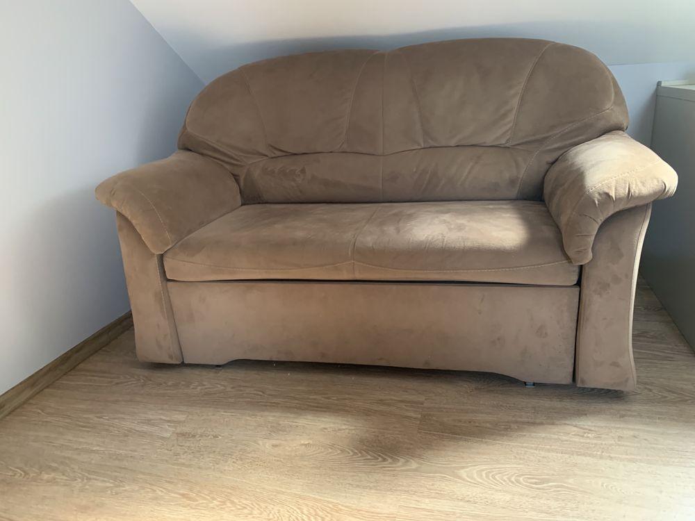 Sofa 2 osobowa z szuflada na kołdrę