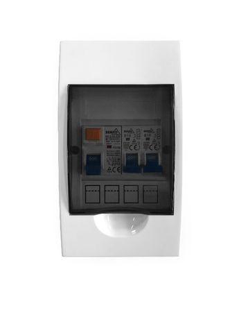 Rozdzielnica elektryczna natynkowa z zabezpieczeniami 4 moduły IDEAL