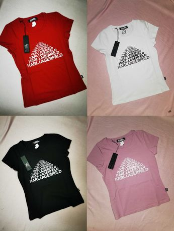 Koszulka damska Karl Lagerfeld nowość różne kolory bluzka hit lato