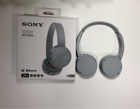 Headset Sony WH-CH500 Cinza claro