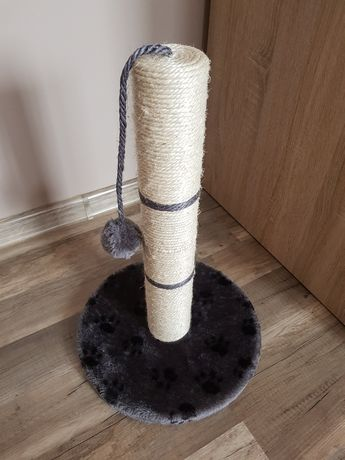 Drapak dla kota 45cm krople na kleszcze zabawka piórka