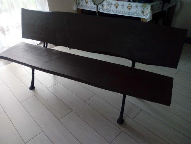 Ławka drewniana z fosztów długość 180cm malowana drewnochron