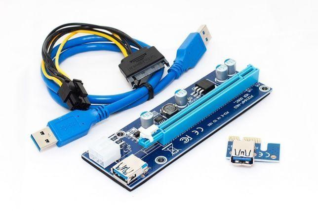 Райзер серверный 6 Pin 006с 60 см USB1-16 006c ОПТ/розница