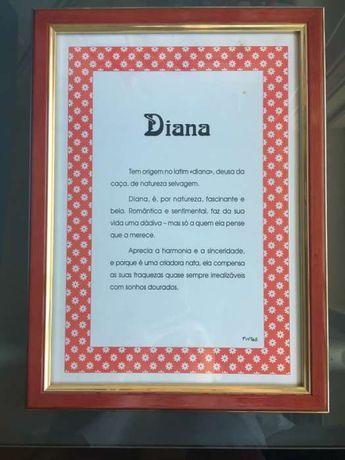 Quadro significado palavra Diana