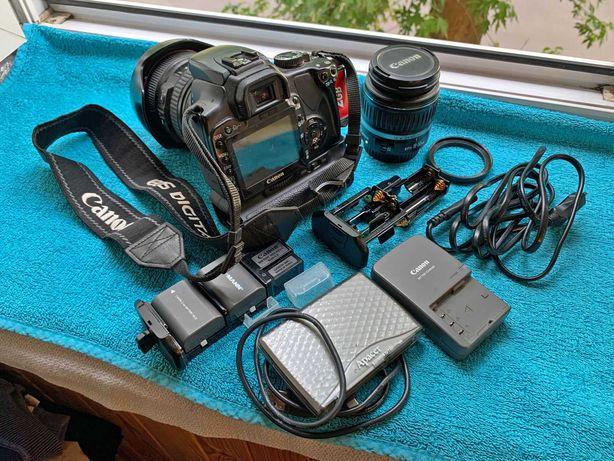 Canon EOS 400D + Canon 24-105 L USM + набор фотолюбителя.