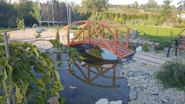 Mostek ogrodowy drewniany