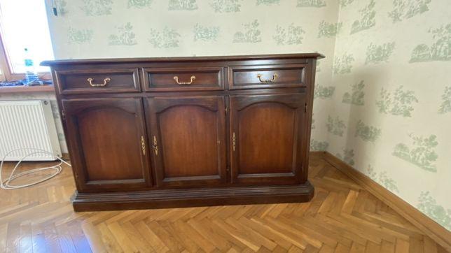 SELVA Komoda drewniana kolor brązowy