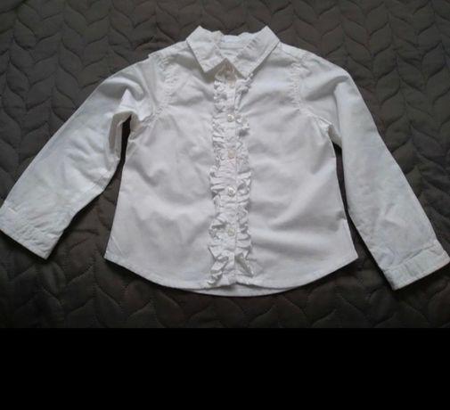 Biała koszula z falbanką 98