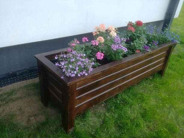 Donica drewniana doniczka ogrodowa 100x40x40 Każdy wymiar TANIO KWIATY