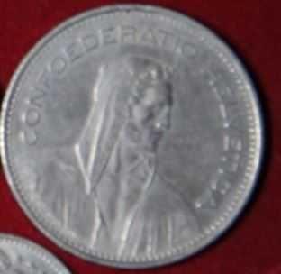 moneta 5 franków szwajcarskich 1981 r
