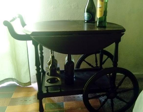 Carrinho/Mesa de chá/bebidas Rustico e Decorativo (50 Anos)