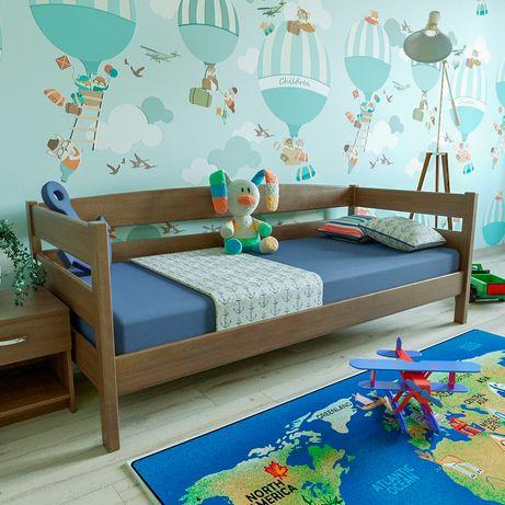 Детская деревянная кровать «Лев», ДОСТАВКА БЕСПЛАТНА 3 240
