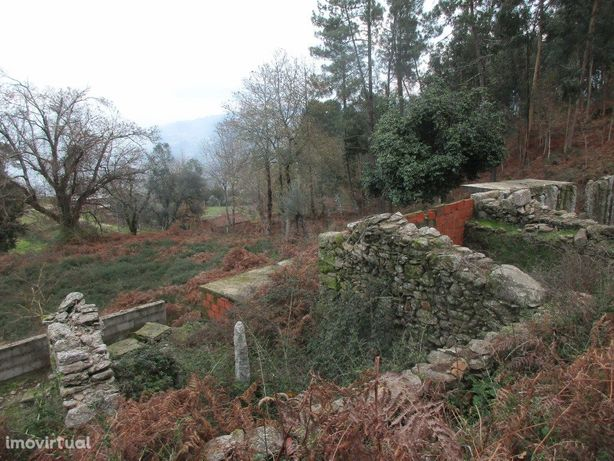 Terreno c/ ruína em pedra em Gondufe
