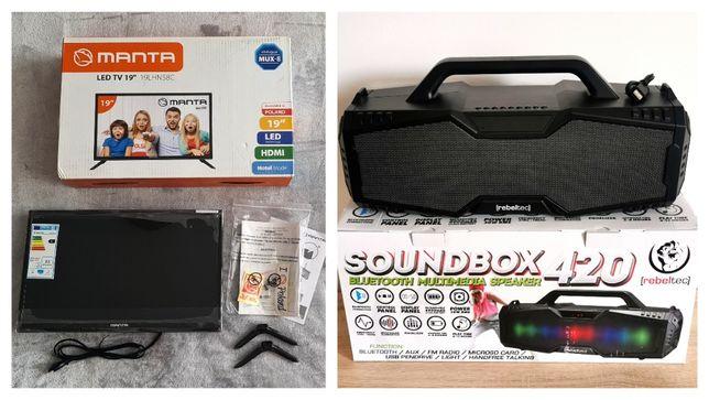 "komplet Telewizor MANTA 19"" LED TV + boombox SoundBox"