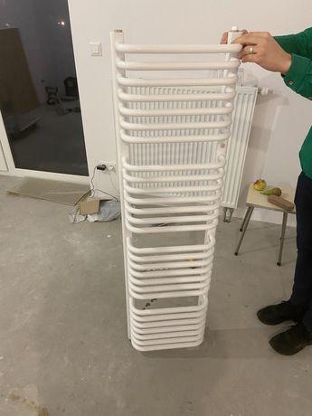 Instal Projekt Grzejnik łazienkowy  40x140 z zaworami i termostatem