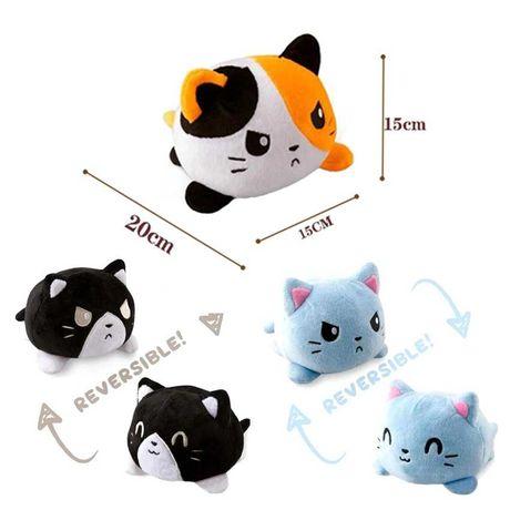 Brinquedo Peluche gato reversível, novo (como os polvos)