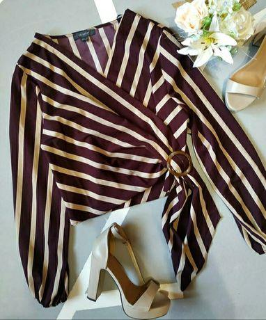 Новая стильная блуза кофта в полоску на запах Primark