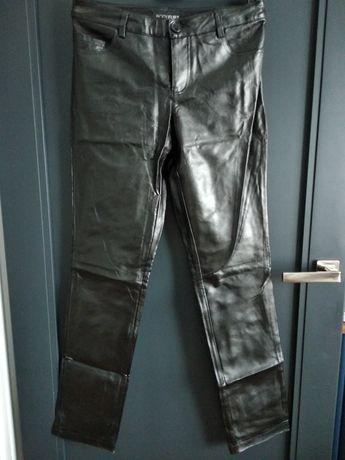 Błyszczące spodnie ekoskóra r. 36