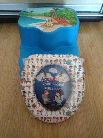 Комплект для мальчика подставка + адаптер на унитаз для малыша