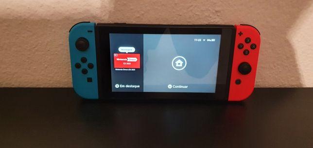 Nitendo switch com pouco uso