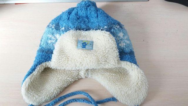 Зимняя шапка для мальчика.