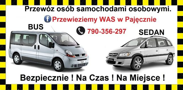 Przewóz osób busami osobowym 8 +1 / 23+1 Przewieziemy WAS w Pajęcznie