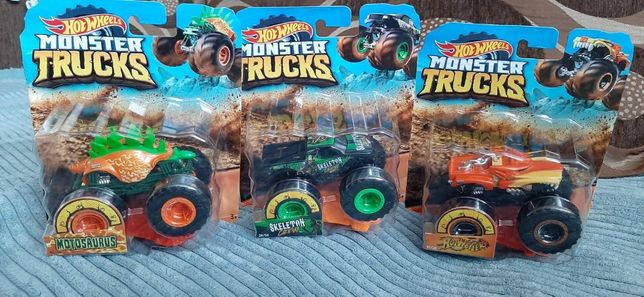 Autko Skeleton Crew Monster Trucks Auta Hot Wheels